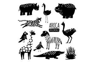 Black and white exotic animals