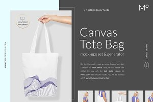 Canvas Tote Bag Mock-ups Set DEMO