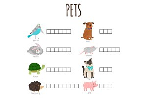 Word game for kids how named animal
