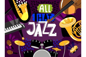 Musical live jazz band, concert of