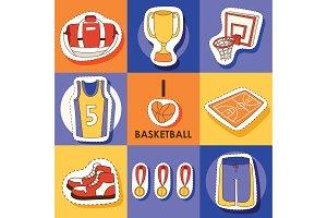 Basketball vector sport sticker