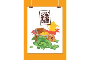 Money vector stack of dollar or