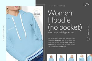 Women Hoodie Mock-ups Set FREE DEMO