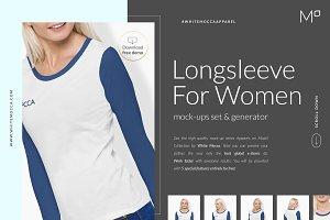 Women Longsleeve Mock-ups Set DEMO