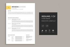 Clean Resume template made with a pr