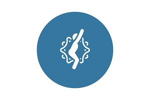 Yoga Chair Pose Icon. Flat Design