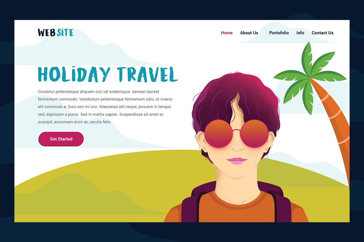 Holiday Travel Header Website