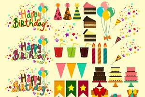 Happy Birthday Digital Clipart