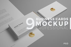 9 Professional Business Card Mockups