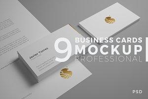 9 Professional Business Card Mockups