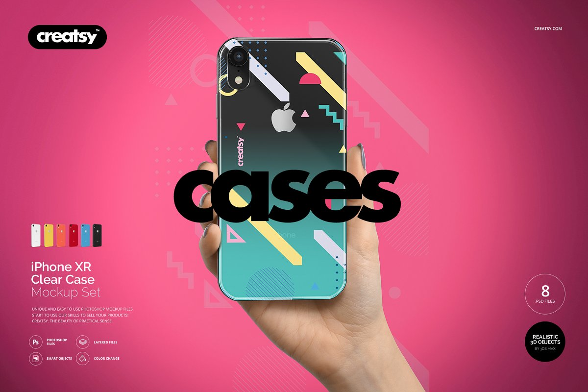 Iphone Xr Clear Case Mockup Set Product Mockups Creative