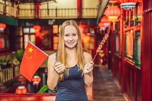 Enjoying vacation in China. Happy