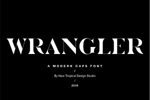 Wrangler - Modern Fashion Caps Font