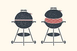 Barbecue, grill. Poster bbq