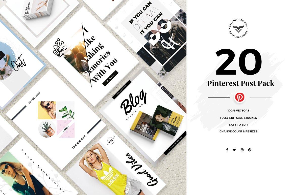 Pinterest Social Media Template