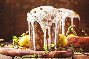 Traditional Russian Easter cake Kuli