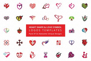 Heart Shape &  Love Symbol Logos