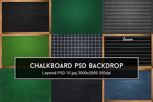 Chalkboard PSD Backdrop