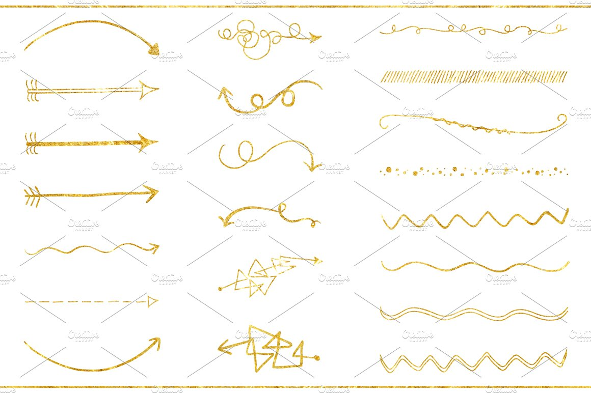 29 Gold Textured Elements Objects Creative Market