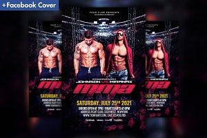 MMA Fight Night Flyer Template