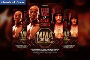 MMA Fight Night Showdown Flyer