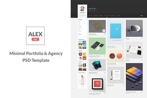 Alex - Minimal Portfolio & Agency