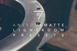 20 Awesome Matte Lightroom Presets
