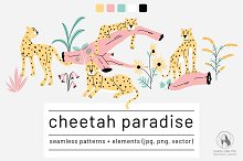 Cheetah Paradise Collection by  in Patterns