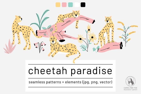 Graphic Patterns: Carolynn Yoe - Cheetah Paradise Collection