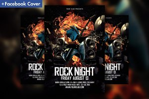 Rock Music Party Flyer Template