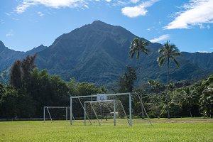 Football school soccer field