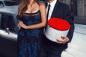 Romantic couple date