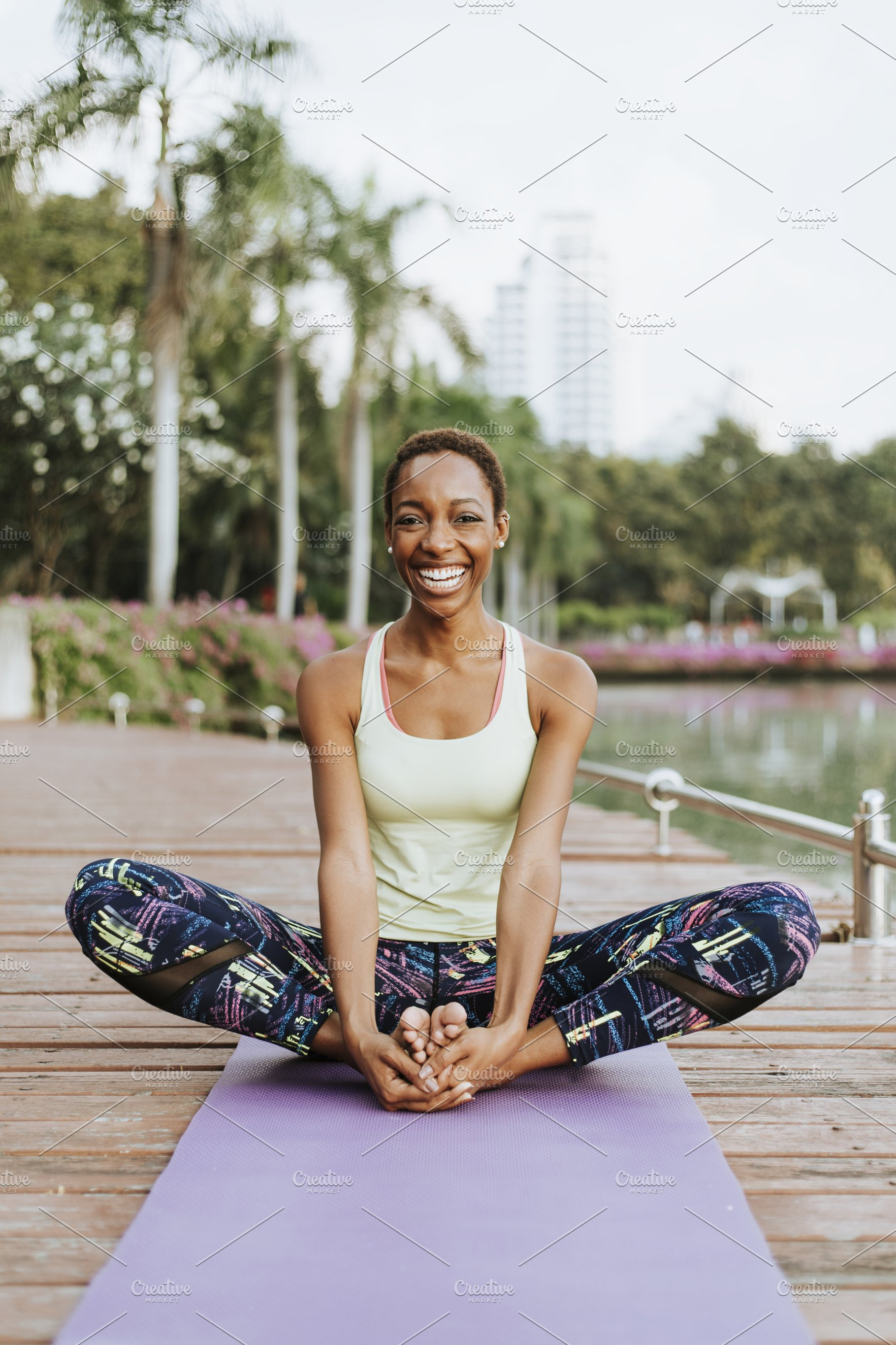 Image result for pics of  black lady Yoga