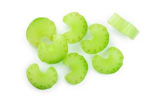 fresh celery isolated on white