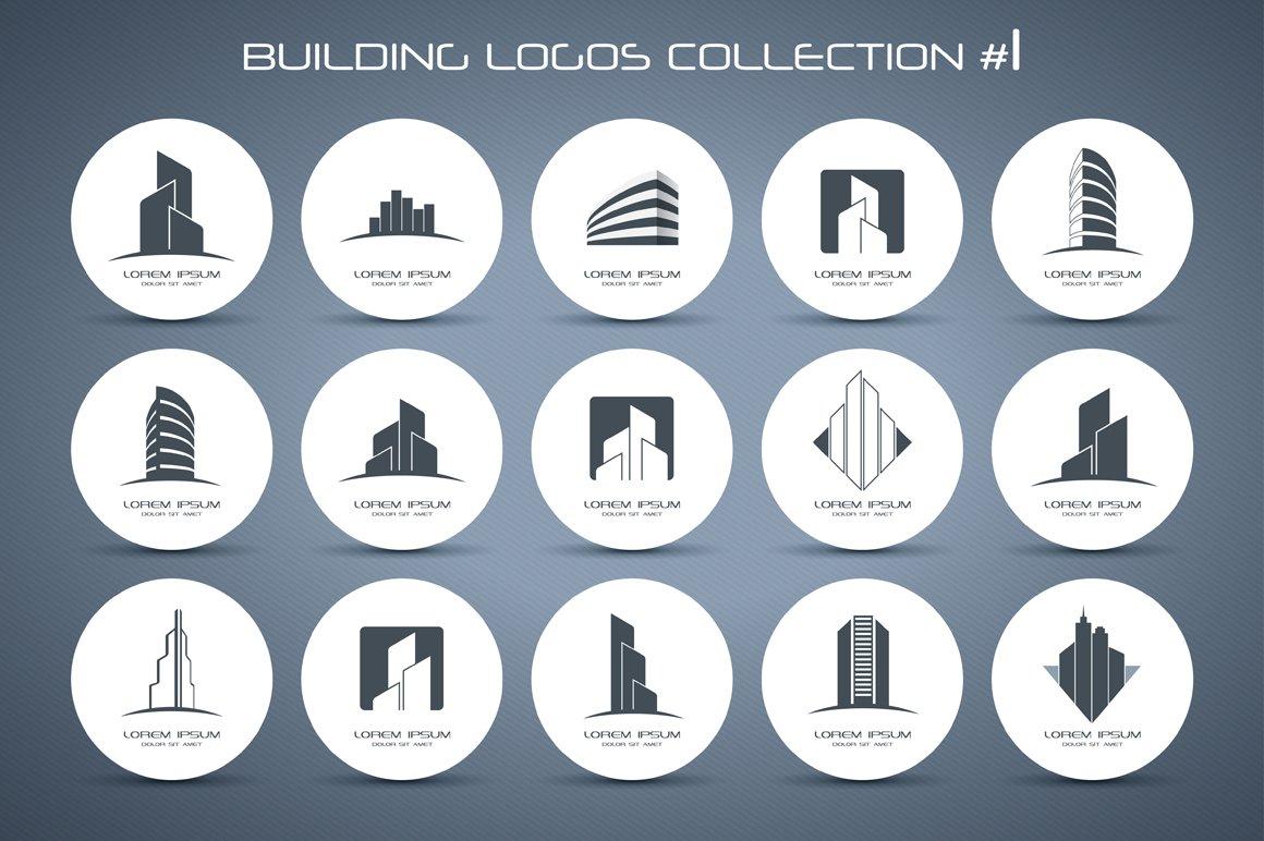 Building Logos Collection 1 Logo Templates Creative