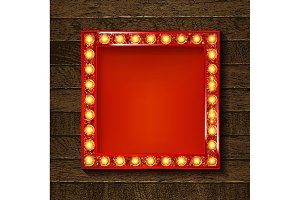 3 Square glowing frames