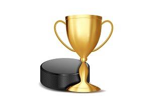 Ice Hockey Award Vector. Ice Hockey