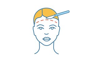 Facelift surgery color icon