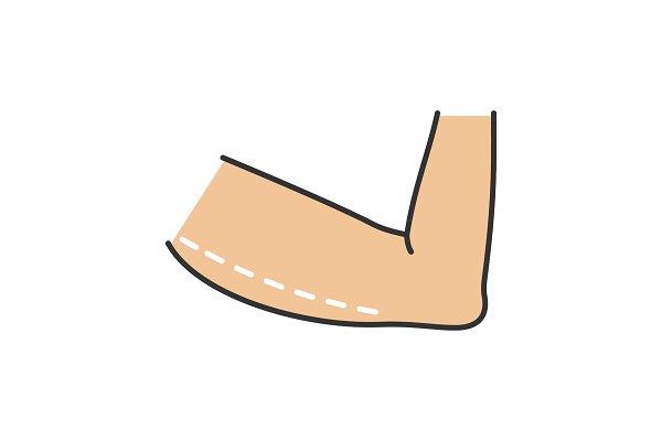 Arm lift surgery color icon