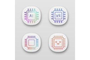 Processors app icons set