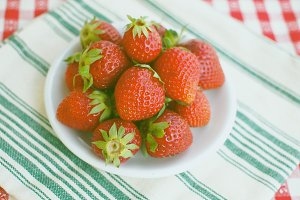 Strawberries for summer snack