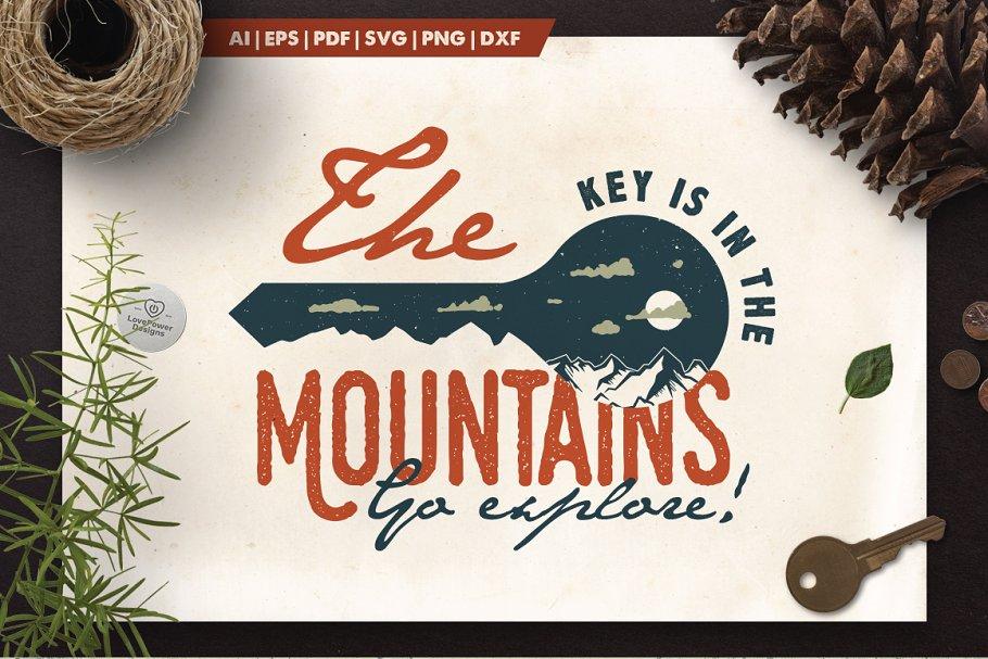 Mountain Key Logo Badge