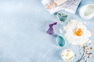 Easter baking culinary background