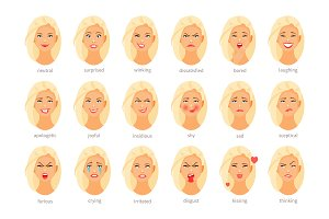 Emotions and feelings vector