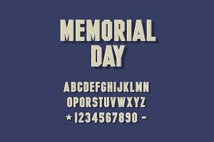 3d font alphabet. Chopped type serif