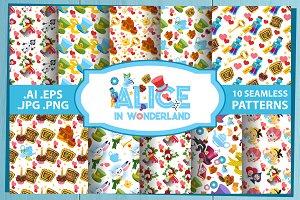 Alice in Wonderland. Patterns set