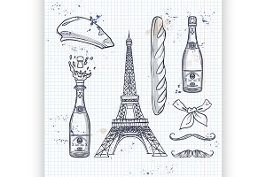 Sketch, set french attributes