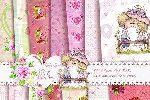 Be my Valentine. Digital Paper Pack