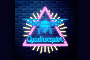 Vintage Quadrocopter emblem