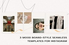 Seamless Mood Board Insta Templates by  in Social Media